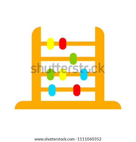 vector abacus illustration. education icon, school math sign symbol