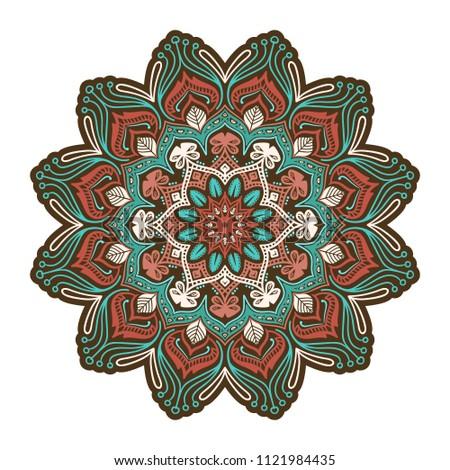 vector absract floral twelve