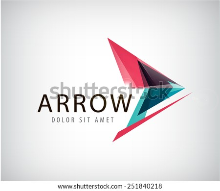 vector abstract arrow logo