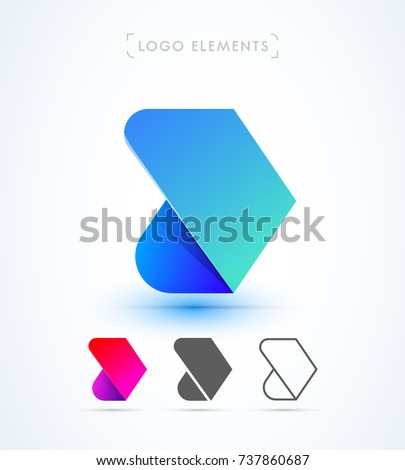Vector abstract arrow logo template. Material design, flat, line style collection.