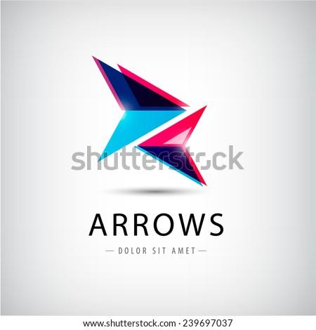 vector abstract arrows icon, logo