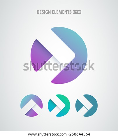 vector abstract arrows icon