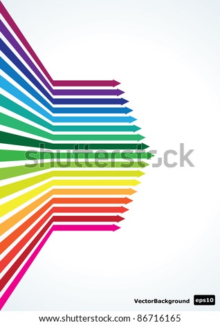 Vector Abstract Arrows illustration eps10