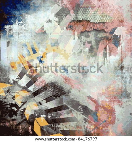 vector abstract art grunge