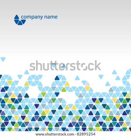 Vector abstract background - Cool cell structure - stock vector