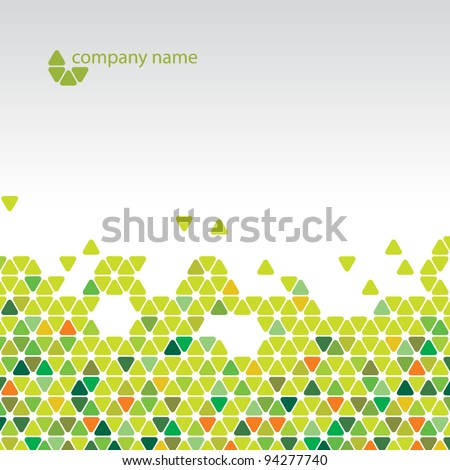 Vector abstract background - Cool green cell structure