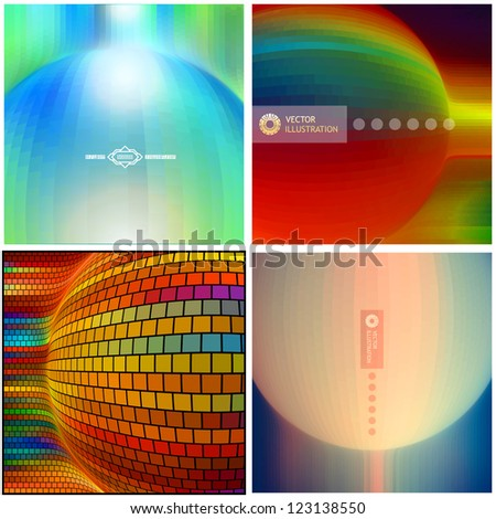 Vector abstract background. Design pattern for packaging. Colorful graphics abstract background.