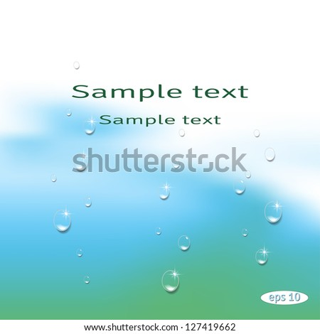 Vector abstract background. Drops of water on colored  substrate. Pattern resembles the fold of tissue or a wave of water.