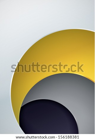 Vector abstract background. Four layers in different colors with space for your content. Modern clean background.