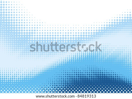 Vector abstract background from blue halftone