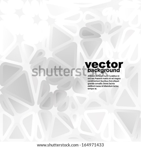 Vector abstract background - futuristic pattern with many rounded triangles