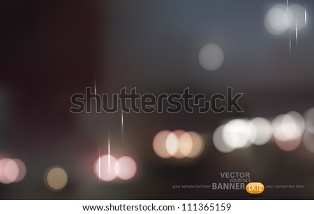 vector abstract background. Gray evening city