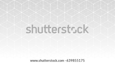 Vector abstract background. Grey and white colors. Gradient. Geometric line pattern. Necker cube. Light neutral fond.