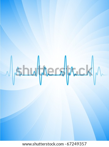 Vector abstract background. Heart pulse.
