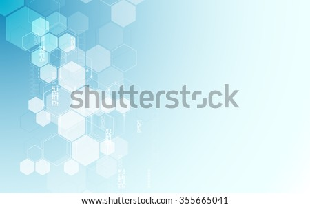 vector abstract background hexagons pattern design tech sci fi innovation concept