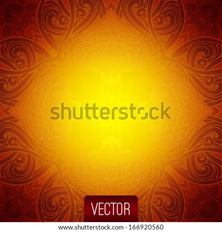 Vector Abstract Background. Islamic Pattern, Oriental Pattern, Vector Illustration, Floral Background. Decorative Elements Vector. Gold Texture, Vector Illustration For Card Design, Wedding Invitation