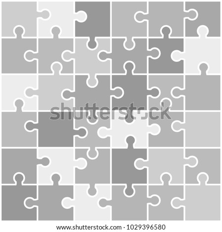 Vector Abstract background made from puzzle pieces