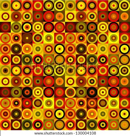 Vector Abstract background made of circles in warm colors.