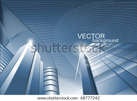 vector abstract background of the building, offices for business