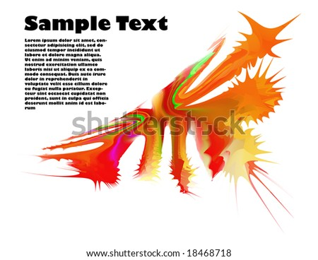 Vector abstract background. Splash ink.