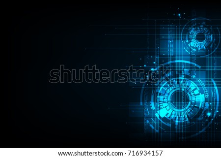 Vector abstract background technology innovation of the future.