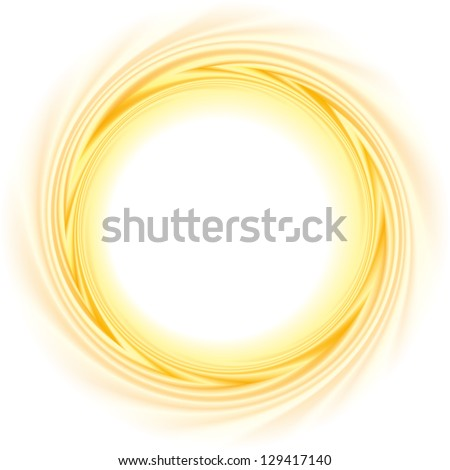 Vector abstract background. The frame of the rapidly revolving burning ball