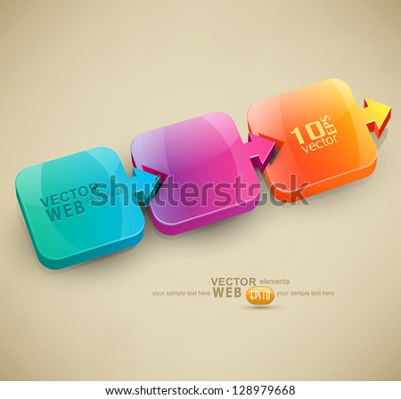 vector abstract background with colored arrows (design element for business) - stock vector
