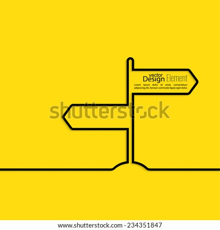 Vector abstract background with direction arrow sign.