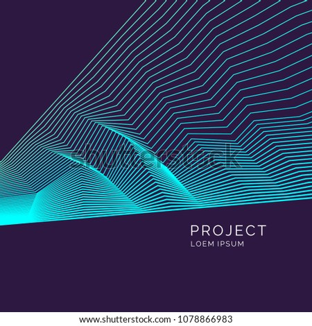 Vector abstract background with dynamic lines. Illustration suitable for poster design