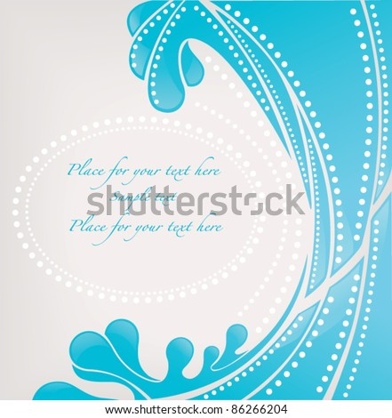 vector abstract background with image of blue wave
