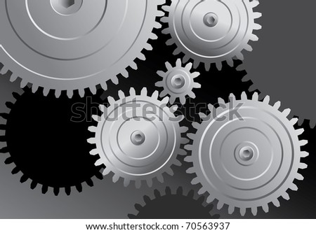 vector abstract background with metal gears
