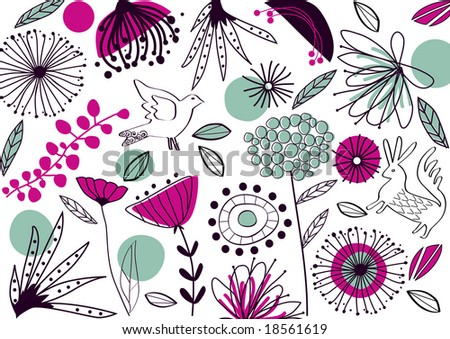 vector - abstract background with nature theme