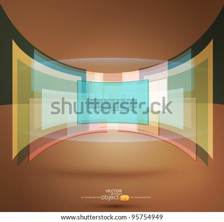 vector abstract background with pastel colors