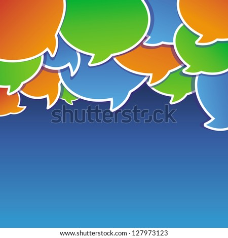 Vector abstract background with speech bubbles and copy space for text