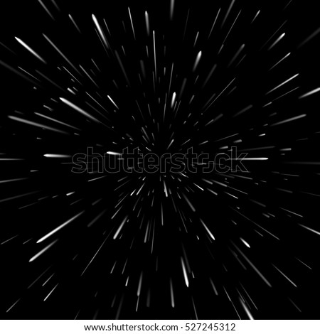 Vector abstract background with Star Warp or Hyperspace