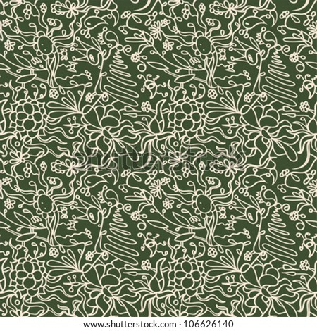 Vector abstract background with strange flower pattern