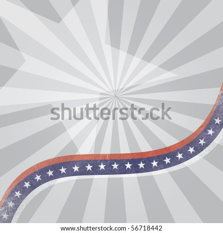 Vector abstract background with USA flag theme and grunge effect on lines