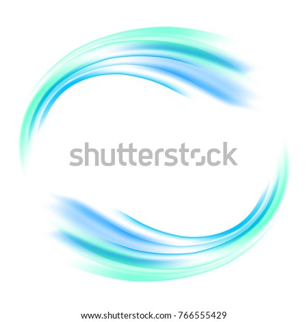 Vector abstract background with wave motion in a circle