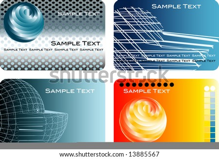 vector abstract backgrounds for business, finance, global trade, industry etc. with text in different layer