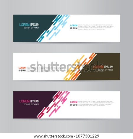 Vector abstract banner design. modern web template #1077301229