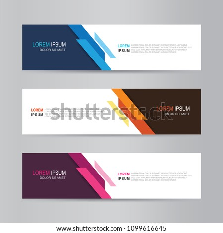 Vector abstract banner design. modern web template #1099616645
