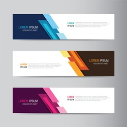Vector abstract banner design web template