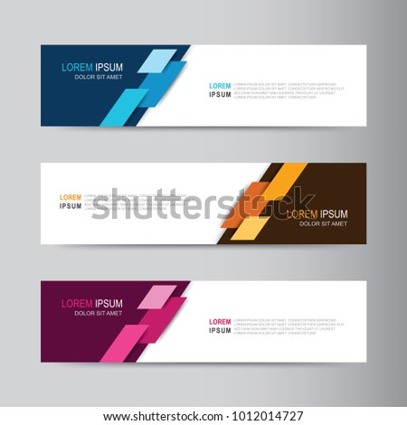 Vector abstract banner design web template #1012014727