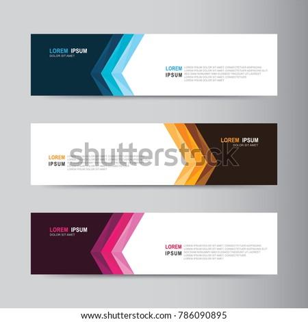 Vector abstract banner design web template #786090895