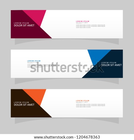 Vector abstract banner design web template. Modern vector design #1204678363