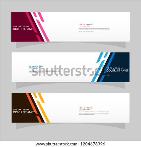 Vector abstract banner design web template. Modern vector design #1204678396
