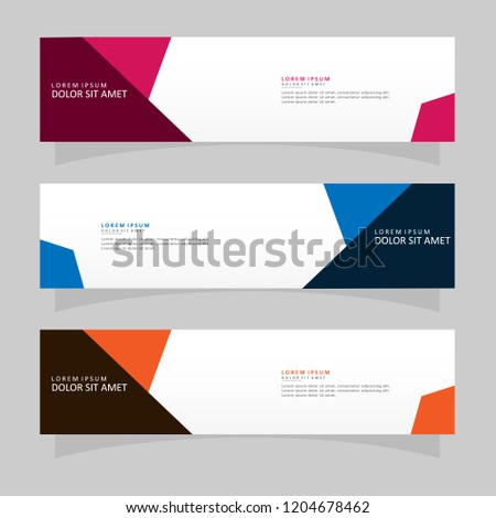 Vector abstract banner design web template. Modern vector design #1204678462