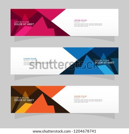 Vector abstract banner design web template. Modern vector design #1204678741