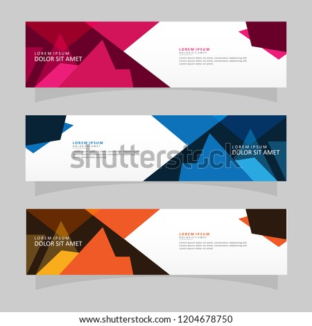 Vector abstract banner design web template. Modern vector design #1204678750