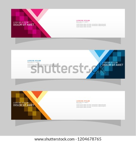 Vector abstract banner design web template. Modern vector design #1204678765